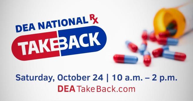 Orange County National Prescription Drug Take Back Day Saturday October 24 2020