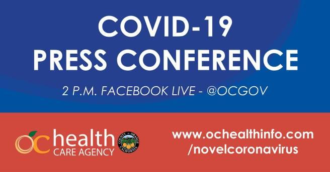 County of Orange California COVID-19 Facebook Live Press Conference October 8 2020