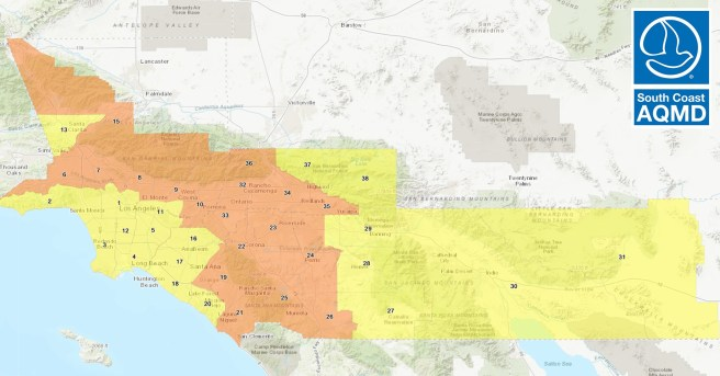 South Coast Air Quality Management District AIr Quality for Southern California October 12 2020