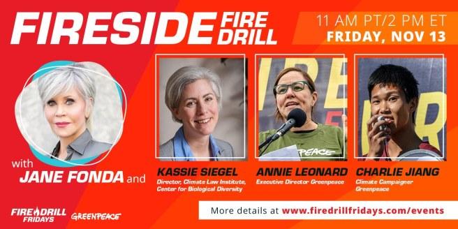 #Greenpeace #FireDrill Fridays November 13 2020