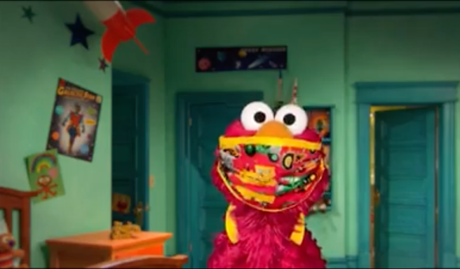 Elmo Wears A Mask PSA Courtesy of Sesame Street