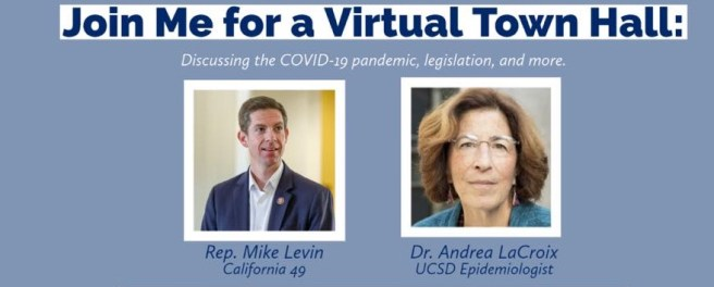 U.S. Representative Mike Levin COVID-19 Virtual Town Hall Wednesday December 2 2020