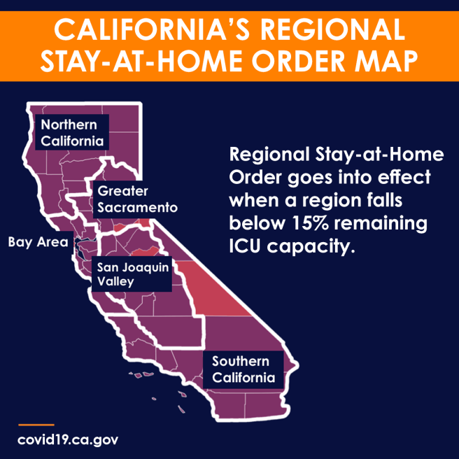 California COVID-19 Regional Stay At Home Order Map December 2020