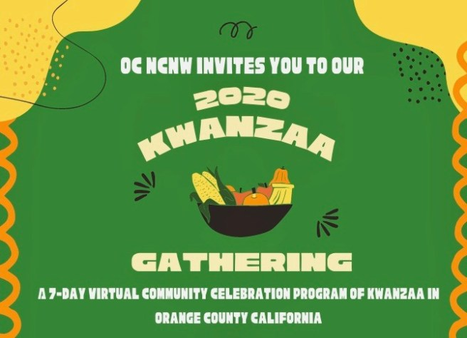 Orange County California Kwanzaa 2020 Virtual Gathering