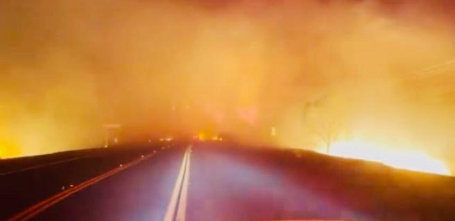 #BondFire in Silverado California Video Image Courtesy of Orange County Fire Authority (OCFA)Twitter Page