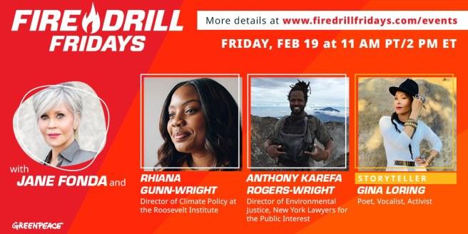 Greenpeace Jane Fonda Fire Drill Fridays February 19 2021