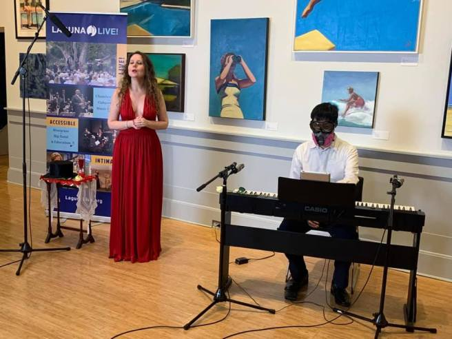 Soprano Christina Linhardt and Joshua Chandra Courtesy of Laguna Beach Live