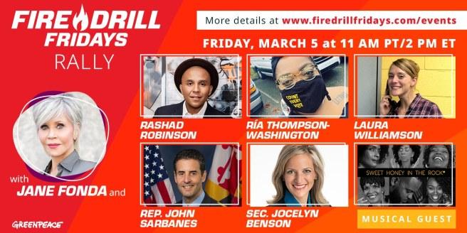 Greenpeace Jane Fonda Fire Drill Fridays March 5 2021