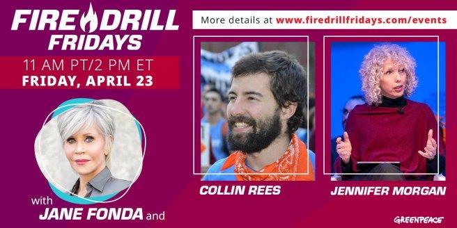 Greenpeace Jane Fonda Fire Drill Friday April 23 2021