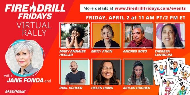 Greenpeace Jane Fonda Fire Drill Friday April 2 2021
