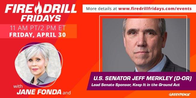 Greenpeace Jane Fonda Fire Drill Fridays April 30 2021