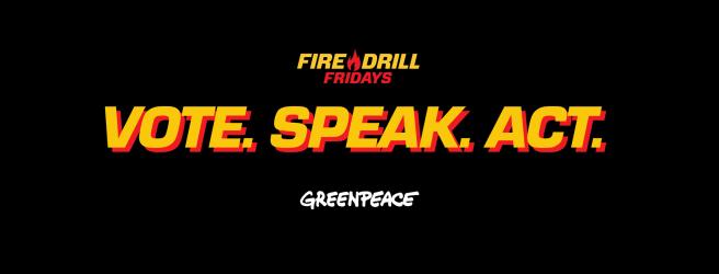 Greenpeace Fire Drill Fridays Logo