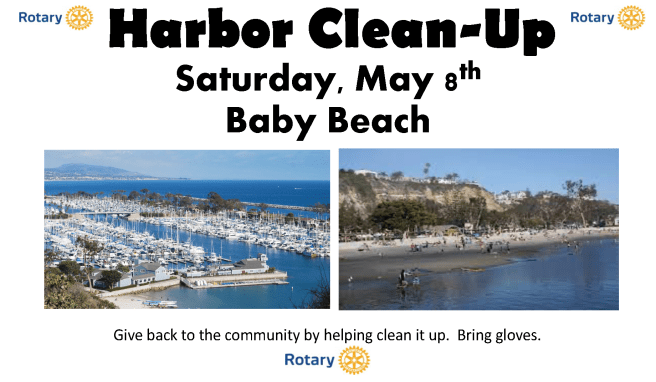 Dana Point Harbor Clean Up Saturday May 8 2021 Courtesy of Dana Point Chamber of Commerce