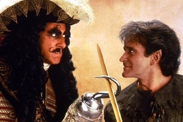 Dustin Hoffman and Robin Williams in Hook Courtesy of Tristar Pictures