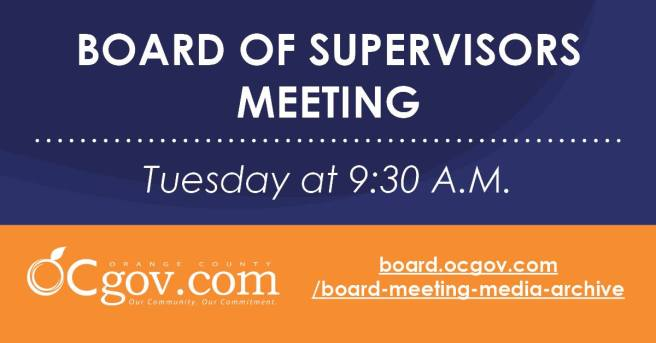 Orange County Board of Supervisors Meeting Tuesday October 19 2021