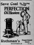 Rothman's ad in Long Island Traveler newspaper, 1926