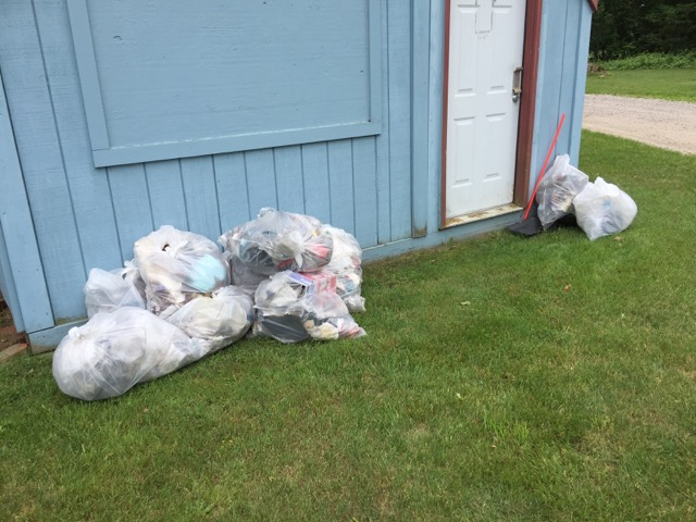 Bags of trash collected on June 11. Photo: Robert Harper.