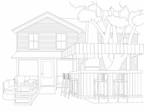 A launch party will be held Saturday at American Beech, one of the locations featured in the coloring book. Courtesy photo.