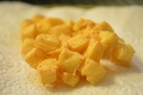 Deep fried firm tofu