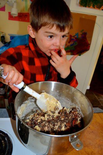 Taste testing is always a key part of cookie making