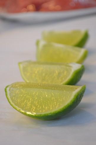 Fresh green lime to seasoning