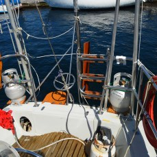 Our once uncluttered stern!