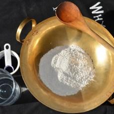 rice flour + arrow root flour