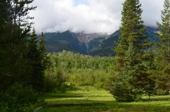 Stay overnight in Smithers at Allan-Julie's house with spectacular view of waterfall