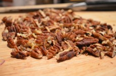 coarsely chopped pecan