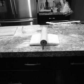 rolling pin in middle