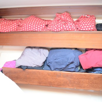 After I built a simple shelf below the existing one. The Admiral is a happy camper:-)