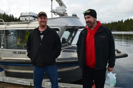2 American crew men who had broken down about 100 miles off the coast and been towed in by the Canadian Coast Guard.