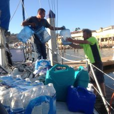 Drinking water delivery to boat.