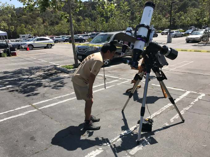 13 SunspotViewing telescope