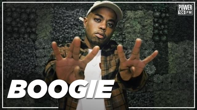 """Boogie talks being homeless & freestyles over Eminem's """"The Way I Am"""" on Power 106"""