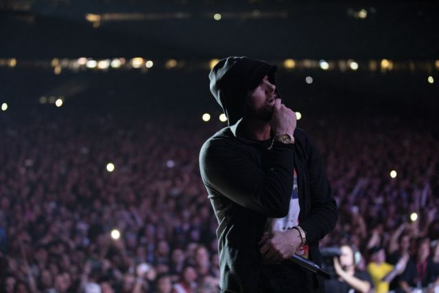 Eminem explains why he wears t-shirts with legendary hip-hop album covers at his concerts