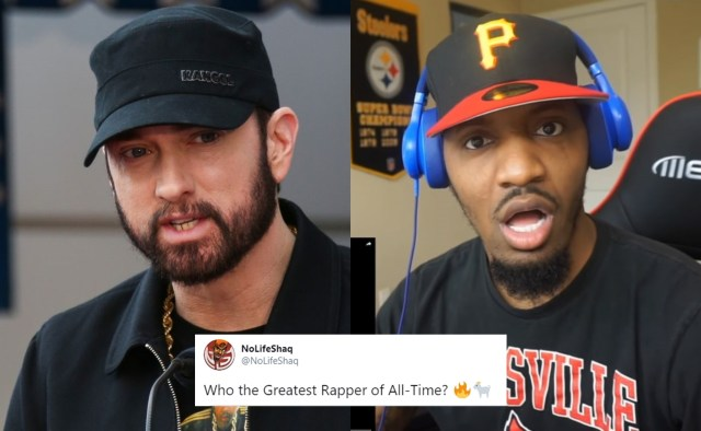 Eminem responds to NoLifeShaq with his list of greatest rappers of all time