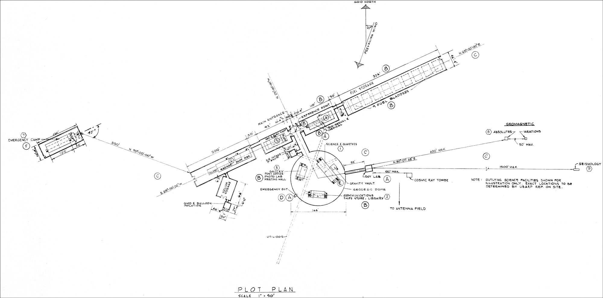 South Pole Aerial Views And Site Plans 83