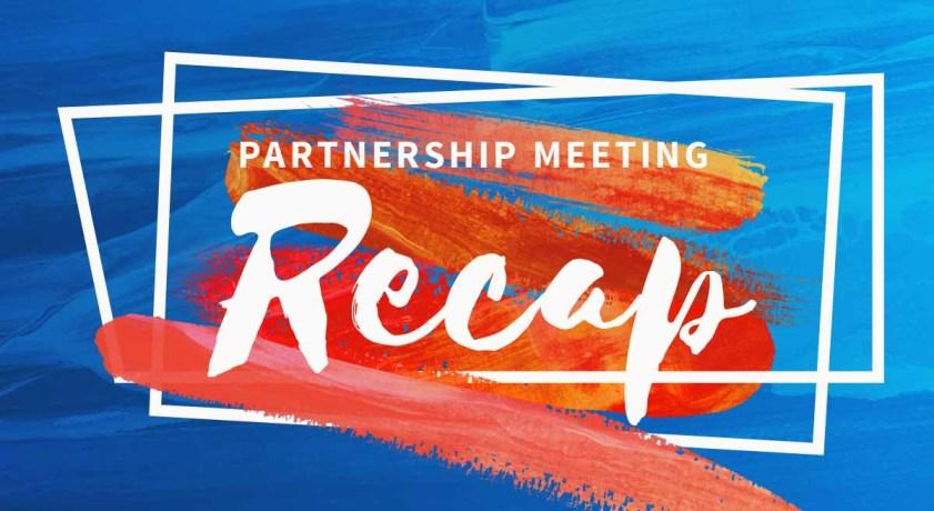 Partnership meeting recap graphic