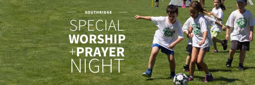 Special worship night, Langley Soccer Camp