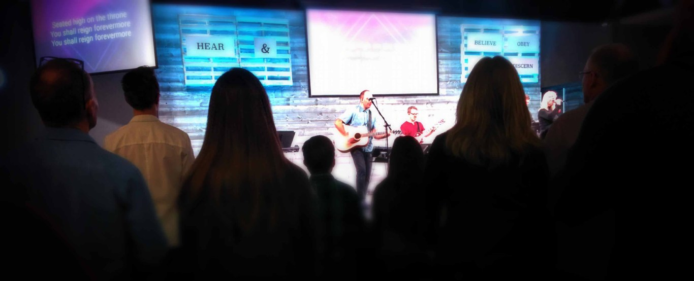 Worship service at SouthRidge Church in Langley