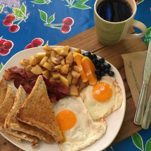Best breakfast in south surrey white rock includes the Sunflower Cafe in Crescent Beach