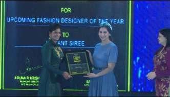 The SouthScope Lifestyle award for Emerging Fashion Designer goes to Hemanth Siree, Hyderabad
