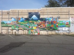 Taibleson's contribution to the Columbia City Mural Project.