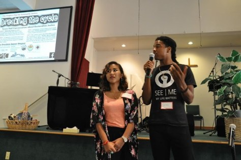 Jerrell Davis and Darozyl Touch share their experience of being Servant Leaders. Photo Credit: Thary Sun Lim