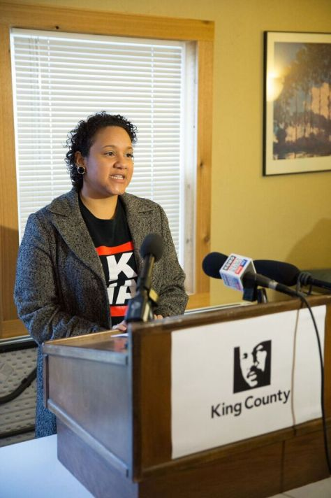 Andra Kranzler of Skyway Solutions speaks during Tuesday's press conference. (photo credit: Alex Garland)