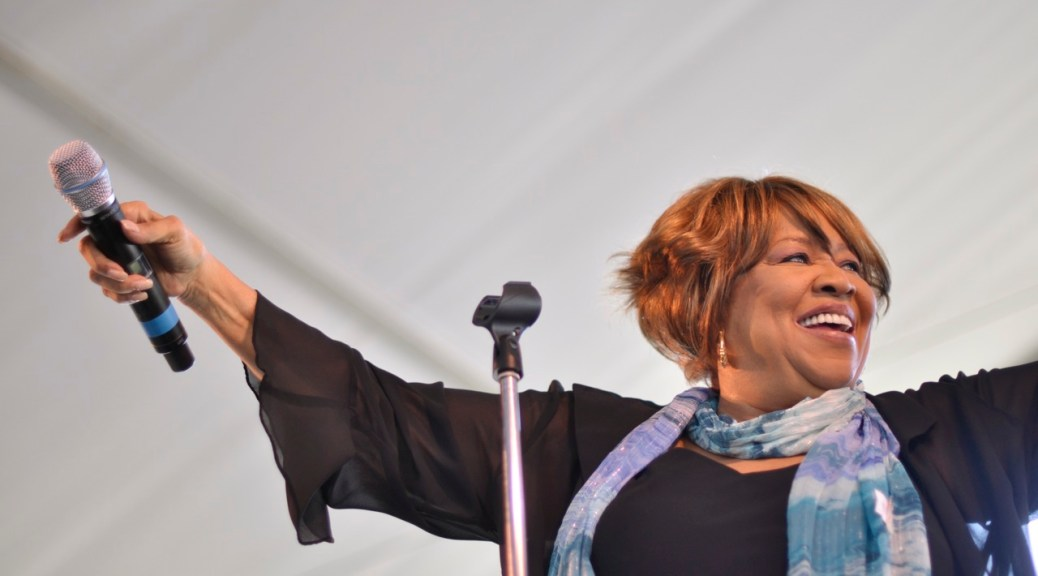 "Mavis Staples by Flickr user ""digboston"", licensed by CC BY 2.0"