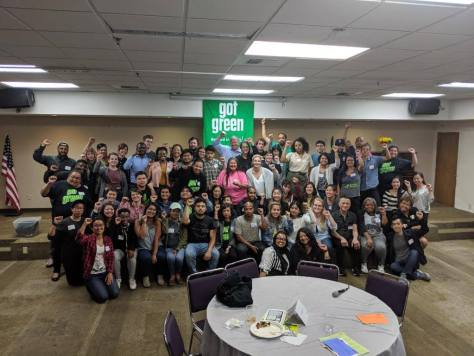 Pic from Green New Deal Townhall