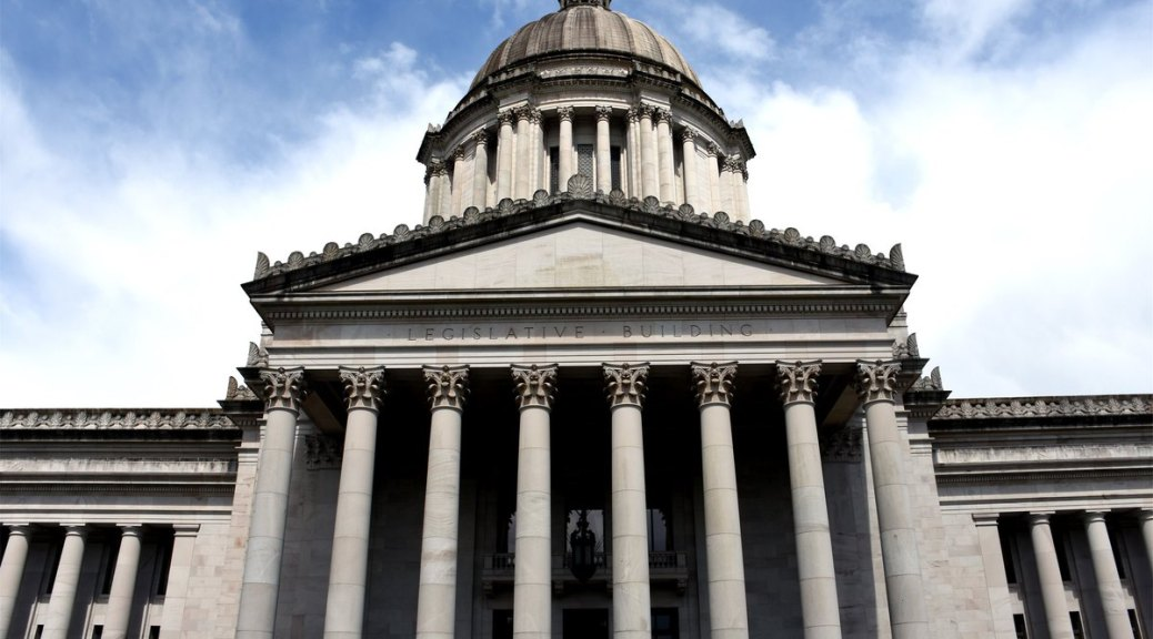 Front of Washington State Legislative Building