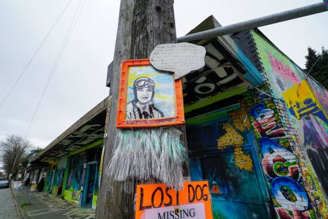 The portrait of Amelia Earhart is located on Beacon Avenue. The artist thatswhatshesaid206, started putting up pieces featuring inspirational women during Women's History Month in 2020 and continued adding more in South Seattle, Beacon and Capital Hill.
